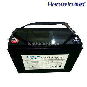 Herewin RV 12v 100ah lifepo4 solar energy storage battery 12v lithium ion battery car
