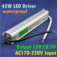 DC12V 45W Waterproof Electronic LED Driver Transformer Power Supply