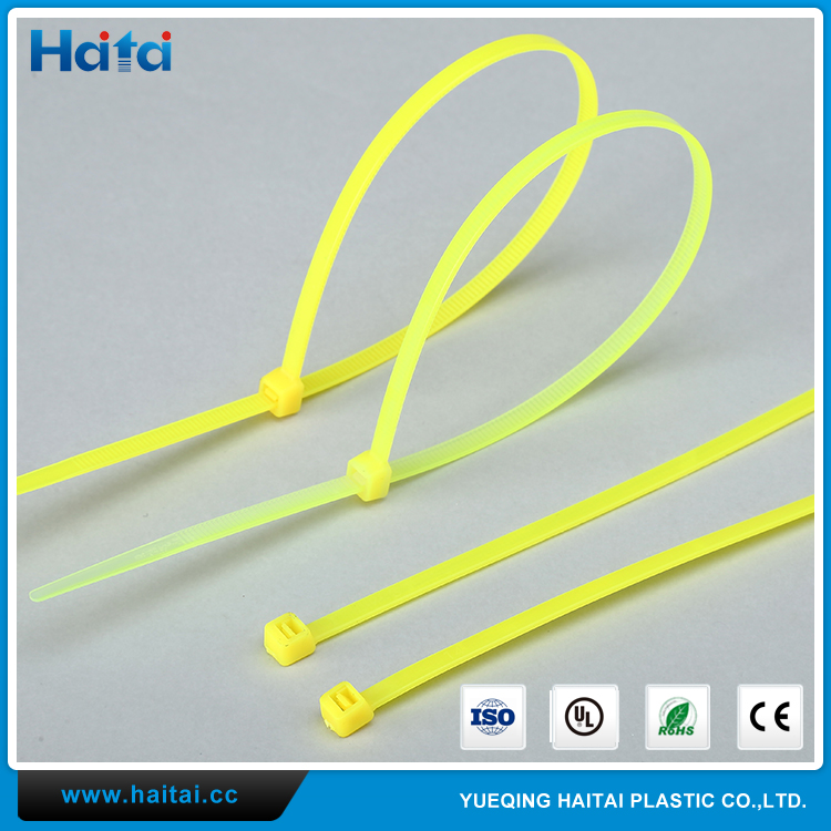Haitai New Technology High Quality Tensioning Tool Nylon Cable Tie Yellow Nylon Cable Tie