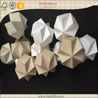 home decoration handmade craft LED origami paper lamp
