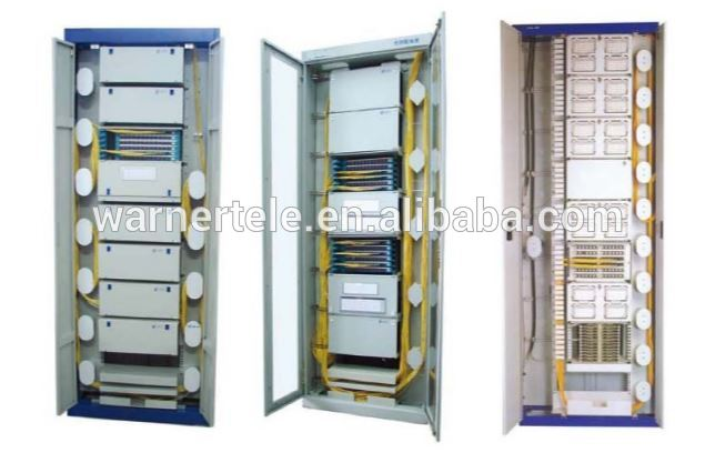 W-TEL Indoor ODF cabinet with 12 24 48 core fiber splice tray Optical fiber distribution cabinet