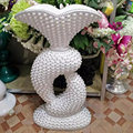 wholesale stunning large wedding spaking centerpiece footed vase(mother of pearl), Spectacular Display Stand