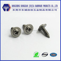 Sharp point screw m2.5x8 stainless steel washer head screws