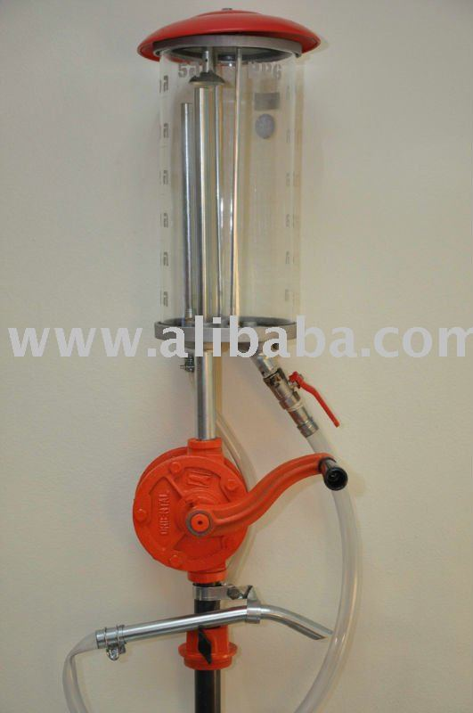 hand rotary oil pump with Meassuring glass