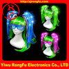 christmas decoration led hair wig manufacture&factory