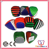 Familiar in oem odm factory wholesale soft phthalates free machine sewing hacky sack