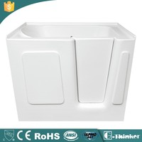 Walk in bathtub corner with UPC approved shower combo seat deep tub