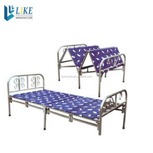 factory price single metal folding bed for sale