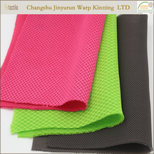 AR42 100% knitted polyester red 3d sandwich air spacer mesh fabric