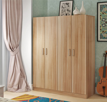 Guangdong factory customized cheap 4 door wardrobe closet cabinet strage bedroom furniture