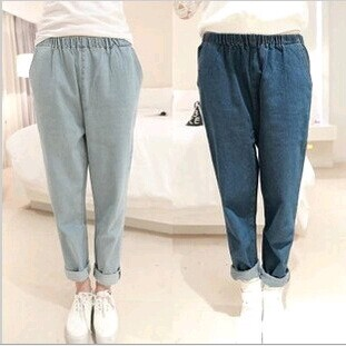 D61447T 2014 NEW STYLE EUROPEAN SAMPLE WOMEN'S PURE COLOUR JEAN TROUSERS