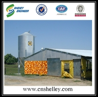 Used poultry bulk feed bins silo for sale