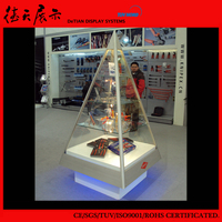 Movable Customized Triangle Transparent Booth Acrylic Display Case