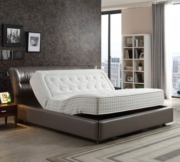 Zero Gravity Split Dual King Electric New Adjustable Beds Latex Mattresses