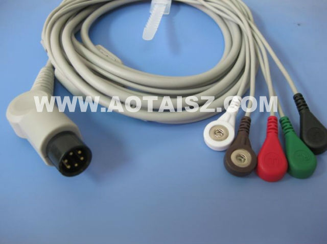 One Piece 5 Leads ECG Cable Medical cable