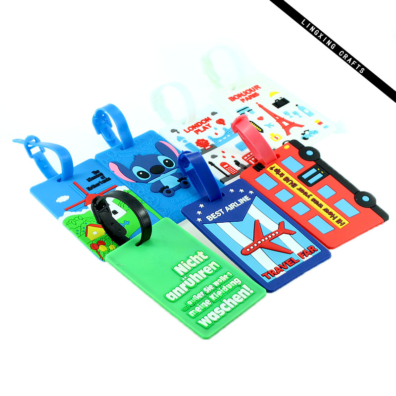 PVC luggage tag FOR AIRPORT with custom package in high quality