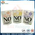 White Kraft Paper with Customized Window & Zipper Stand Up Pouch For Candy bags