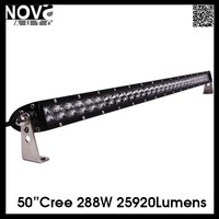 Newest Auto Part 5D Fish Eye Optics 50inch 5W Single Row Led Bar Light