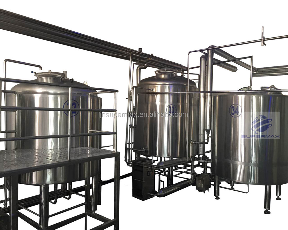 Supermax 10bbl mini agricultural stainless steel beer brewing equipment plant project