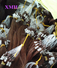 Wholesale100% remy human micro links hair extension cheap Micro ring loop real indian hair extensions