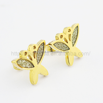 beautiful bling bling animal shaped butterfly earrings women jewelry
