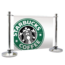 Manufacturer China Factory Metal Cafe Stanchion Post/Queue Barrier Pole/Outdoor Advertising Banner for UK