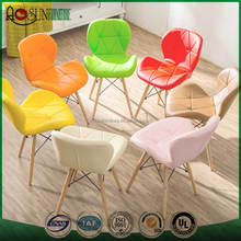 PU Bar Stool Leather Dining Chair for Sale Wooden Legs Fabric Dining Chair