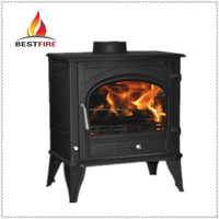 wood burning stove with water jacket china family heating fireplace for sale