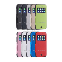 phone answer directly wallet leather case , window flip leather case for iphone 6s plus