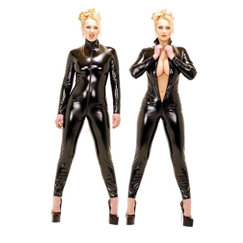 plus size hot sale lycra leather catsuit 6XL vinyl catsuit costume for sale