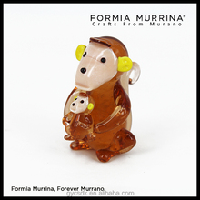 Glass mother and child Monkey Miniature Figurine as Decorations