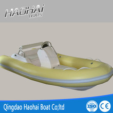 430cm pvc inflatable fishing plastic boat with double fiberglass hull