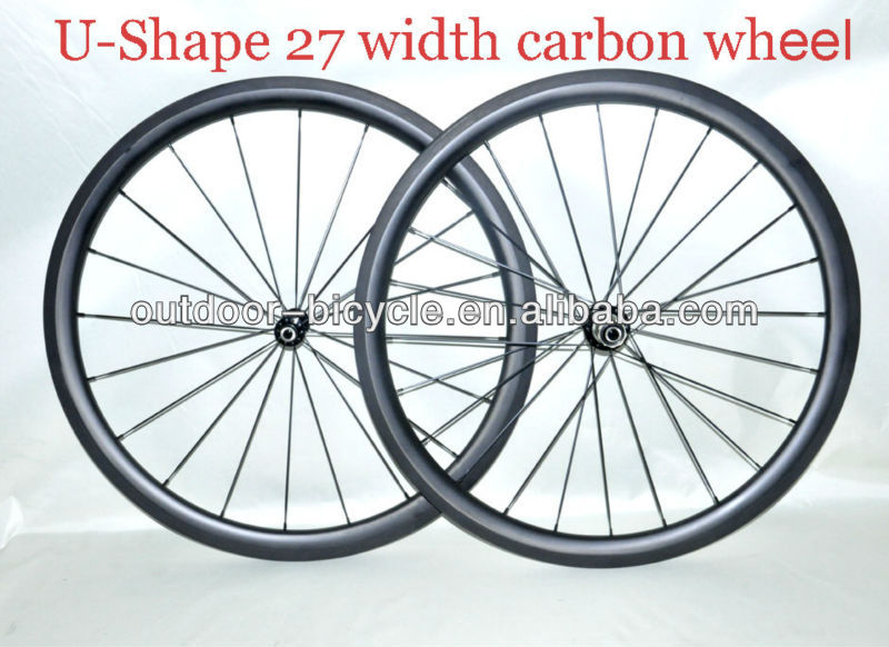 Chinese carbon wheels new U-shape,farsports 40mm clincher carbon road/mountain bike wheel,Basalt brake surface