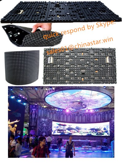 newest P5 3in1 SMD indoor led screen led soft/flexible module, Arbitrary shape LED display OLED display screen