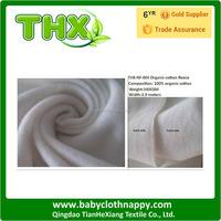 THX 100% organic cotton fleece cloth diaper fabric small MOQ