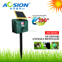 Motion Activated Solar Repellent Deter Cats Dogs Deer Vermin Rats Mice Foxes Scarer Pest Control LED flashing AN-B040