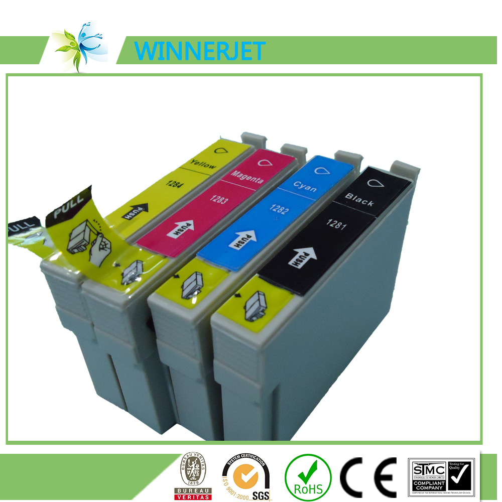 printing ink and cartridge for epson T1411/T1412/T1413/T1414 compatible ink cartridge filled with ink and chip