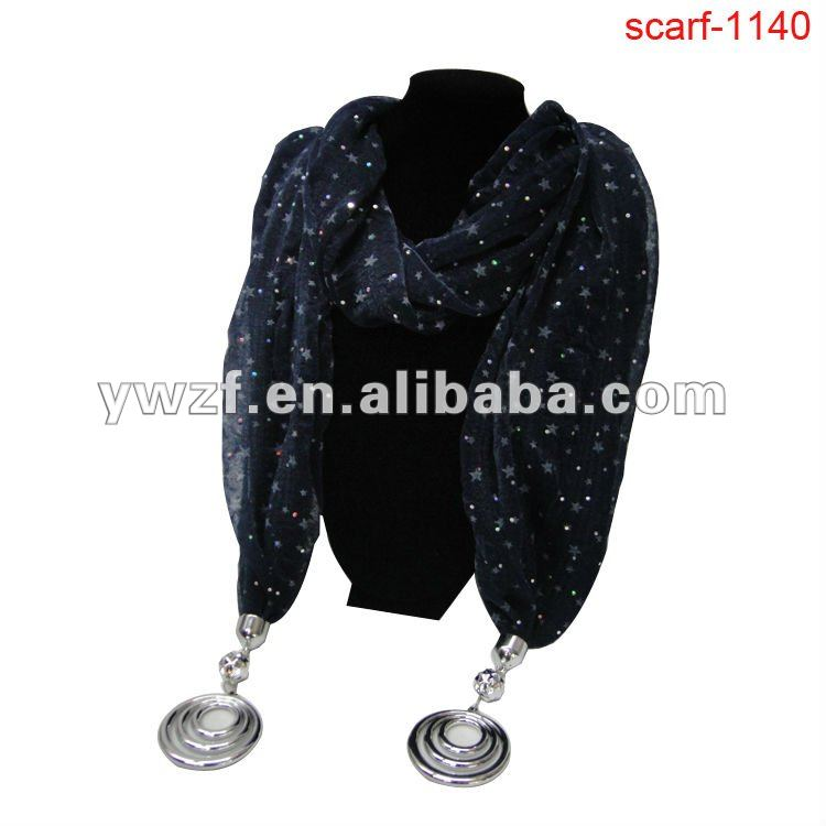 jeweled pendant fashion scarves wholesale