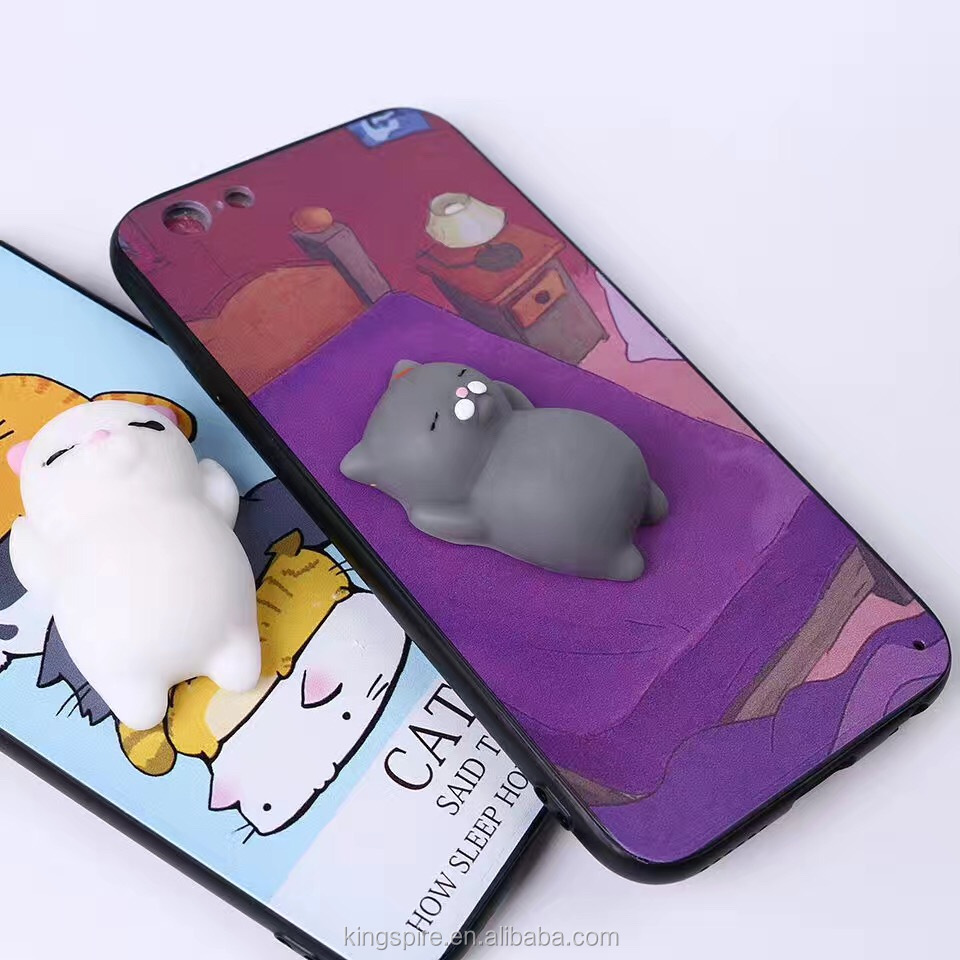 2017 3D Cat Kneading Mobile Phone Accessories Case For iphone7
