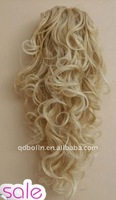 Light Brown Curly Ponytail Wig Hair piece Extension