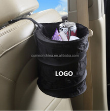 Universal Traveling Black Collapsible Pop-up Leak Proof Car Trash Can
