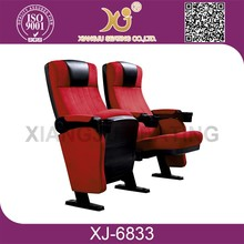 XJ-6833 Opera house Luxury padded theatre chairs with armrests