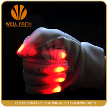New Rainbow Flashing Fingertip LED Gloves Unisex Light Up Glow gloves