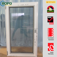 Latest design plastic single pane casement window with tinted glass