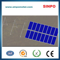 Adjustable ground mounting PV stents for solar power station