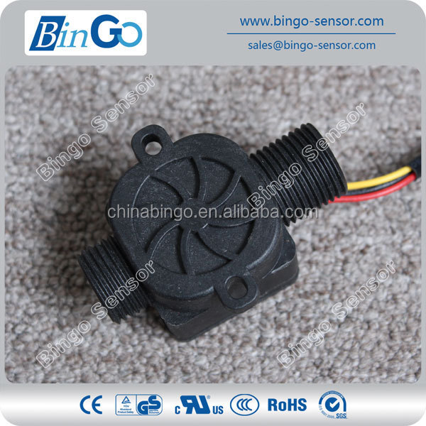 low flow rate range water flow sensor, 1/2'' electronic flow sensor for liquid