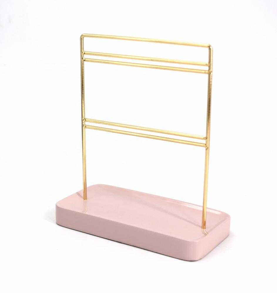 82264BC01 Resin Pink Jewellery Display Hanger Jewelry Holder Earring Display for supermarket & Jewelry Shop
