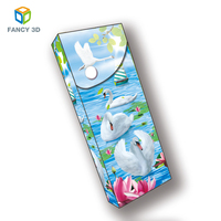 Zebulun March Expo White Swan Plastic PET PP 3D Lenticular Pencil Packaging Boxes