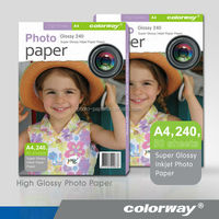 Colorway Cast Coated 230g A4 Super Glossy Photo Paper for printing high quality photos