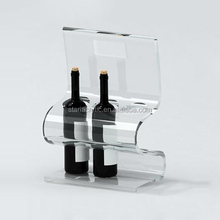 Acrylic tabletop countertop desktop wine beverage drink water bottle display holder for retail stores